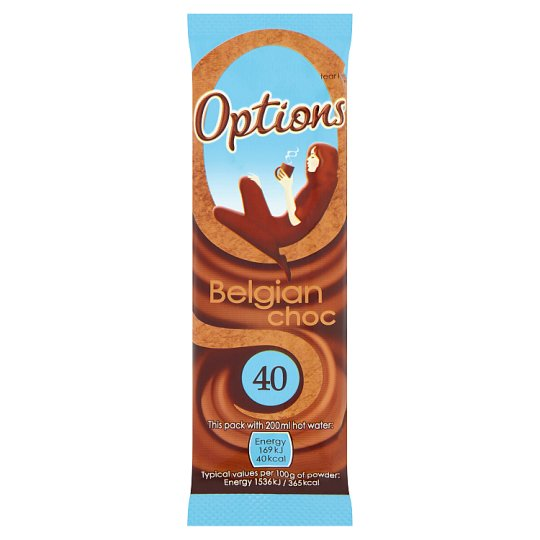 Options Instant Belgian Chocolate Sachet 11G