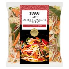 Tesco Large Stir Fry 570G