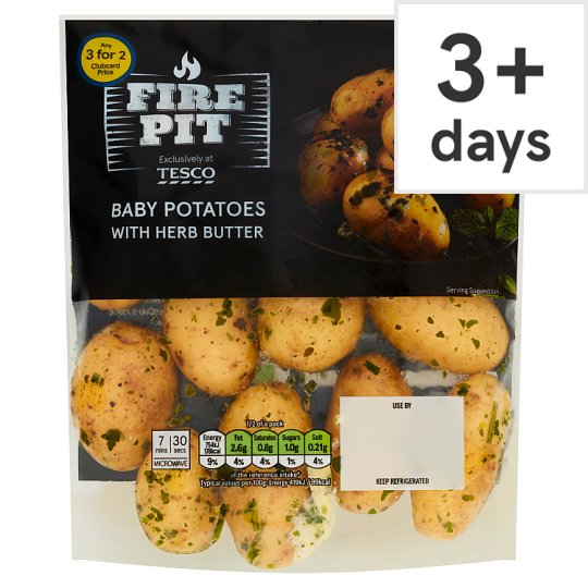 image 1 of Tesco Baby Potatoes With Herb Butter 360G