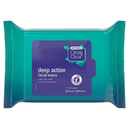Clean And Clear Deep Action Wipes 25