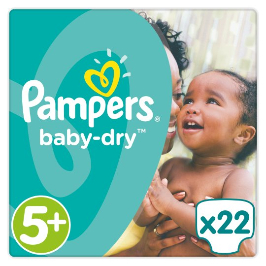 Pampers Baby Dry Size 5+ Carry Pack 22 Nappies