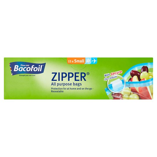 Bacofoil Zipper Small Bags X15
