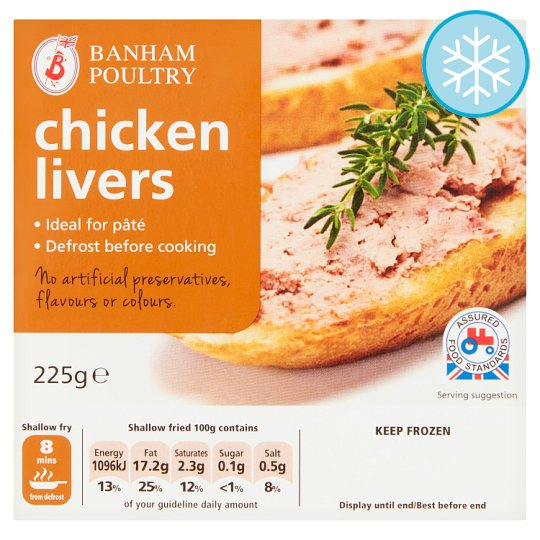 Banham Poultry Chicken Livers 225G
