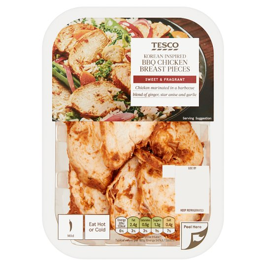 Tesco Korean Bbq Cooked Chicken Chunks 180G