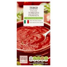 Tesco Italian Passata With Basil 500G