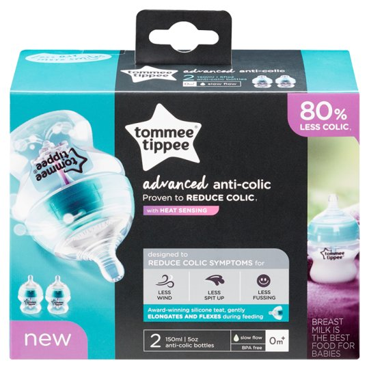 image 1 of Tommee Tippee Closer To Nature Advanced Comfort 2X 150Ml Bottles