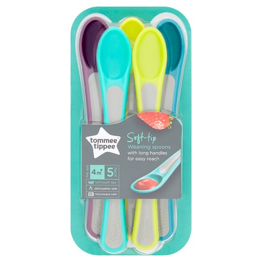 Tommee Tippee Explora Soft Tip Weaning Spoons X5