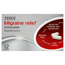 Tesco Migraine Relief 342Mg 12S