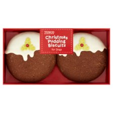 Tesco Christmas Pudding Biscuits For Dogs 2 Pack