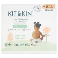 Kit And Kin Nappies Size3 Tiger 34Pk 7-11Kg 16-25Lbs