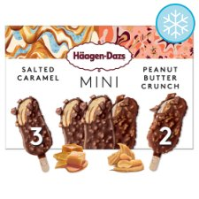 Haagen-Dazs Mini Caramel And Peanut Butter Ice Cream 5X40ml