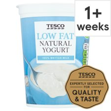 Tesco Low Fat Natural Yogurt 500G