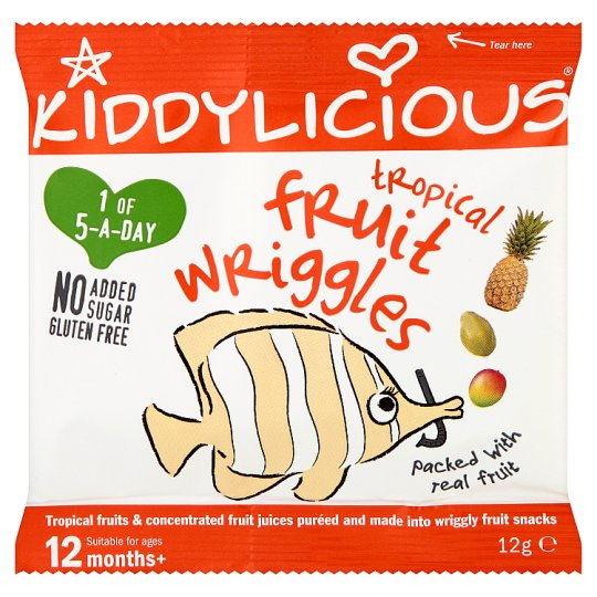 Kiddylicious Tropical Fruit Wriggles 12G