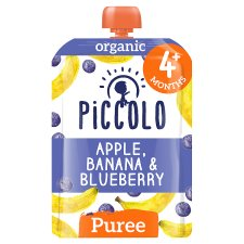 Piccolo Organic Banana Blueberry And Apple Baby Food 100G