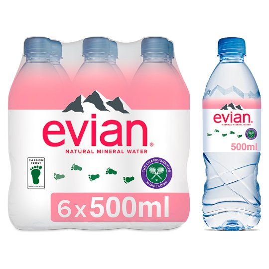 Evian Natural Mineral Water 6X50cl Pack