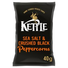 Kettle Chips Sea Salt & Black Pepper Crisps 40 G
