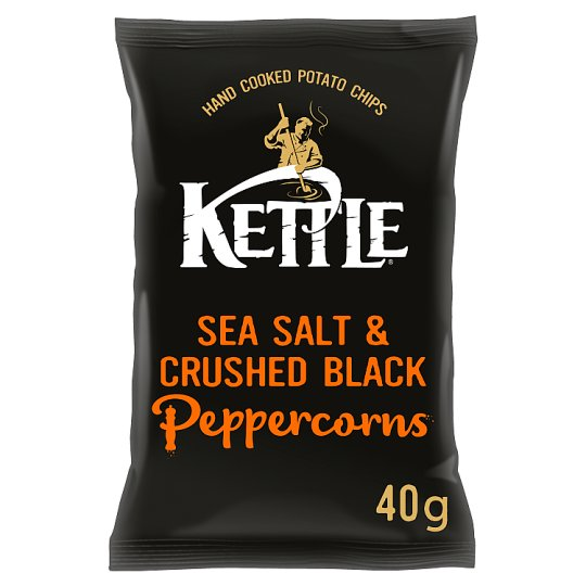 Kettle Chips Sea Salt And Black Pepper Crisps 40 G
