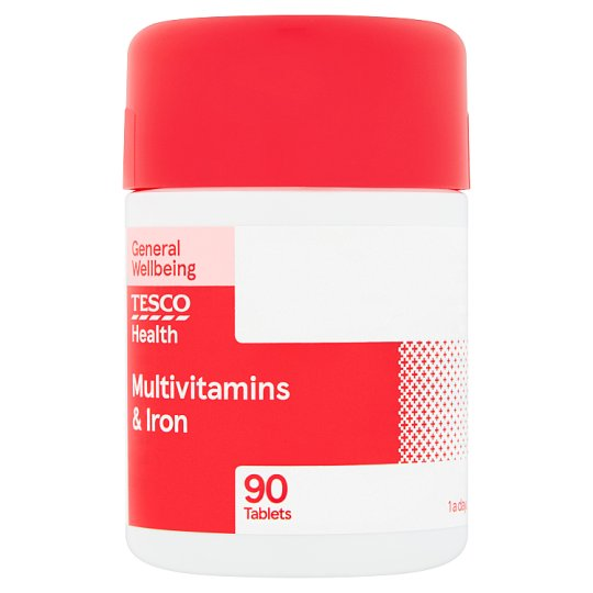 Tesco Multivitamins Plus Iron X 90