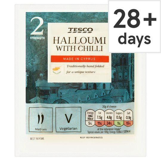 Tesco Halloumi Cheese With Chilli 225 G