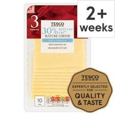Tesco 30% Reduced Fat Mature Cheese Slices 250G