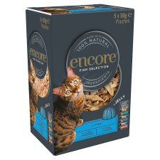 Encore Cat Food Fish Jelly Pouches 5X50g