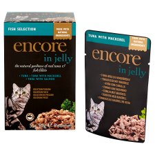 image 2 of Encore Cat Food Fish Jelly Pouches 5X50g
