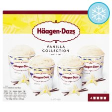 Haagen Dazs Vanilla Ice Cream Collection Minicups 4X100ml