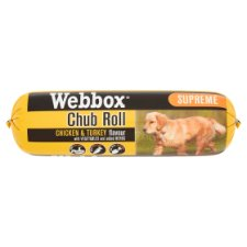 Webbox Super Supreme Chicken And Turkey Dog Chub Roll 800G