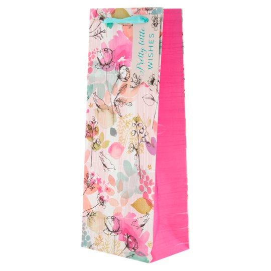 Tesco Washed Floral Bottle Bag