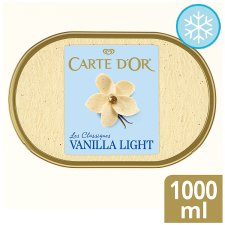 Carte D'or Vanilla Light Ice Cream Dessert 1L