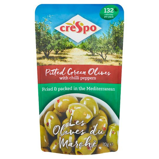 Crespo Olives With Chilli Pepper 70G