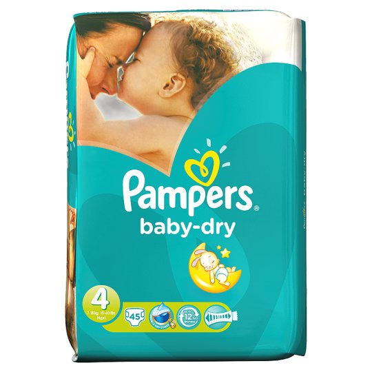Pampers Baby Dry Size 4 Essential Pack 45 Nappies