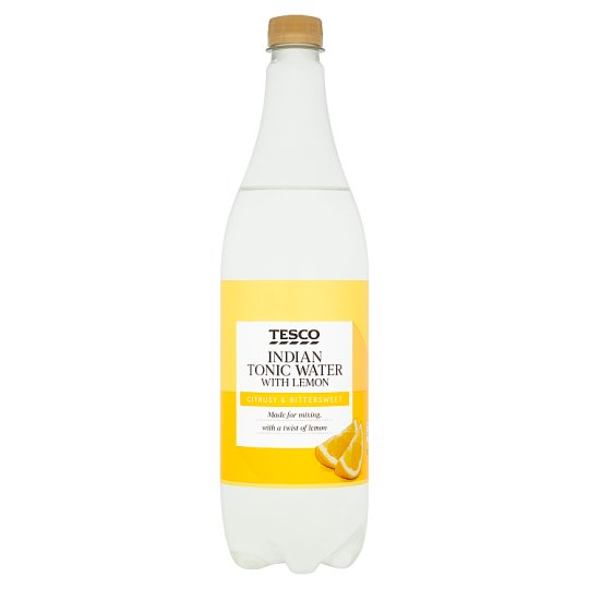 Tesco Indian Tonic Water With Lemon 1 Litre