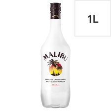 Malibu White Rum With Coconut 1L