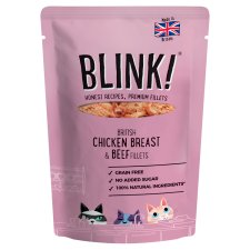 Blink Chicken & Beef Cat Food Pouch 85G