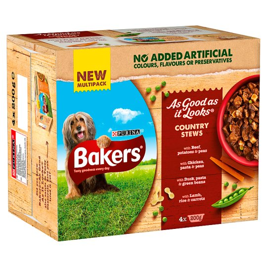 image 1 of Bakers As Good As It Looks Country Stew Dog Food 4X200g