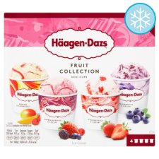 Haagen Dazs Fruit Ice Cream Collection Minicups 4X100ml