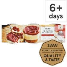 Tesco Strawberry Cheesecake 3 X100g