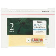 Tesco 30% Reduced Fat Medium Cheese 460G