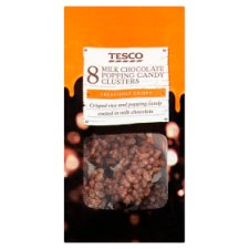 Tesco Popping Candy Cluster 8 Pack