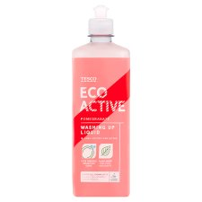 Tesco Eco Active Washing Up Liquid Pomegranate 500Ml