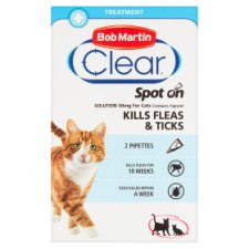 Bob Martin Fleaclear Cat Flea Treatment 2 Tube