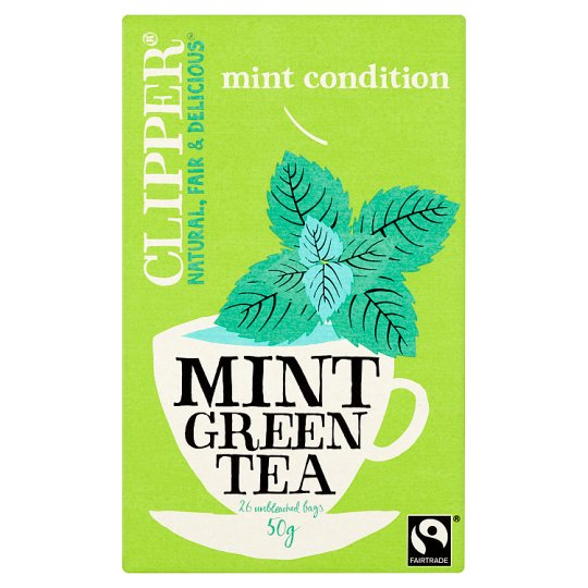 Clipper Green With Mint 25 Teabags 50G