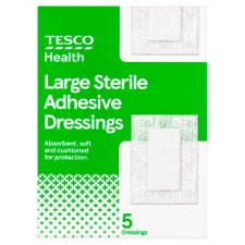 Tesco Health Sterile Dressing Large 5 Pack