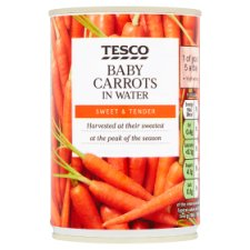 Tesco Baby Carrots In Water 300G
