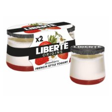 Liberte Origins Strawberry Yogurt 2X135g