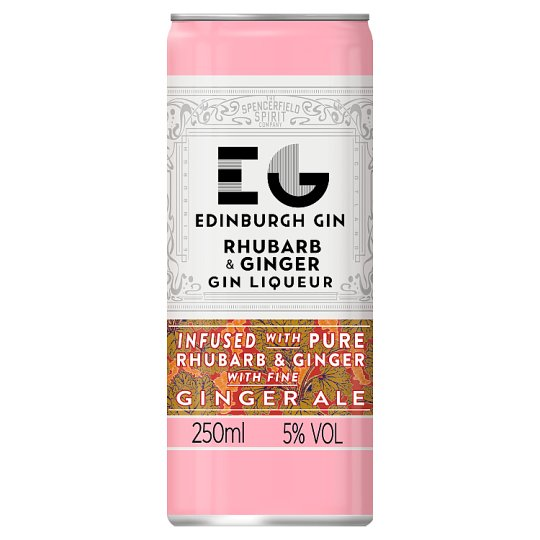 Edinburgh Gin Rhubarb Gin And Ginger Ale 250Ml
