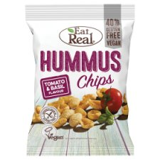 Eat Real Hummus Chips Tomato And Basil 135G