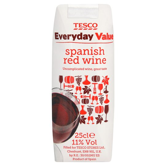 Tesco Everyday Value Spanish Red 25Cl