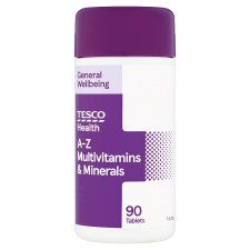 Tesco A-Z Multivitamins And Minerals 90S